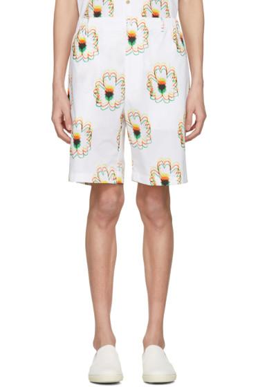 Stella McCartney - White Psychedelic Flower Shorts