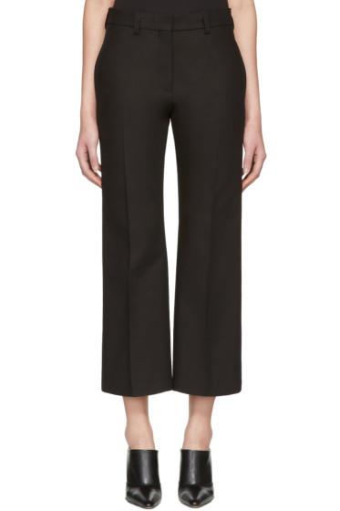 Calvin Klein Collection - Black Lagan Crop Flare Trousers