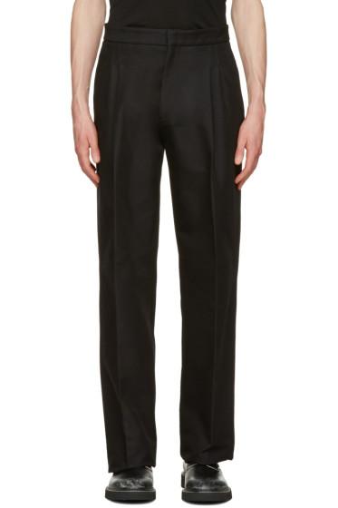Calvin Klein Collection - ブラック オーバーサイズ ラジアル トラウザーズ