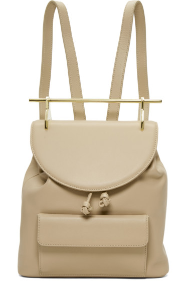M2Malletier - Beige Leather Single Backpack