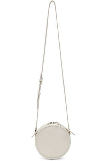 Kara - Off-White Leather Circle Bag