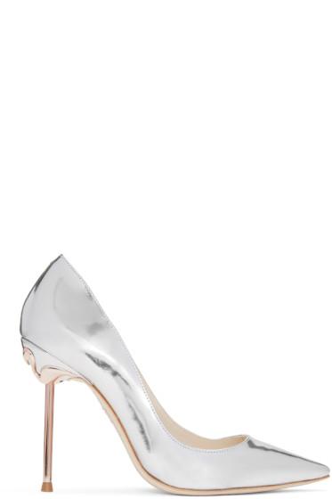 Sophia Webster - Silver Coco Flamingo Heels