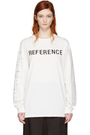Yang Li - オフホワイト Reference T シャツ