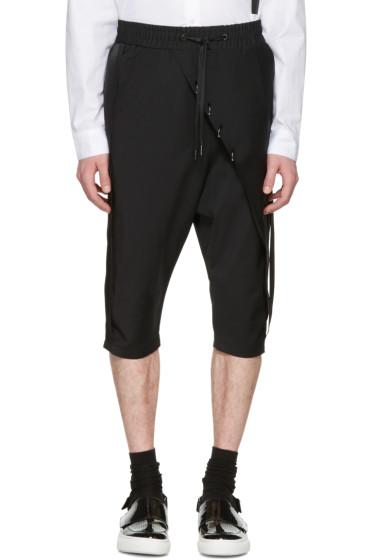 D.Gnak by Kang.D - Black Septum Rings Wrap Shorts