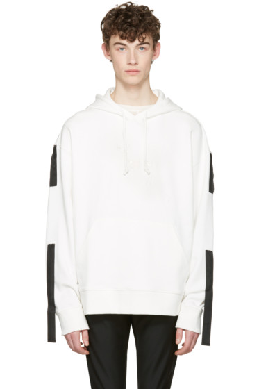 D.Gnak by Kang.D - White Straps Hoodie