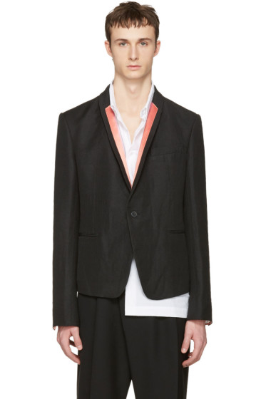 Haider Ackermann - Black Striped Lapel Blazer