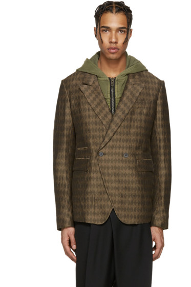 Haider Ackermann - Brown Diamonds Blazer