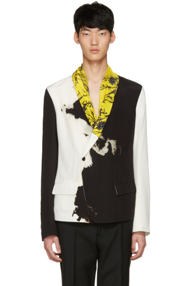 Haider Ackermann - Black & White Silk Blazer