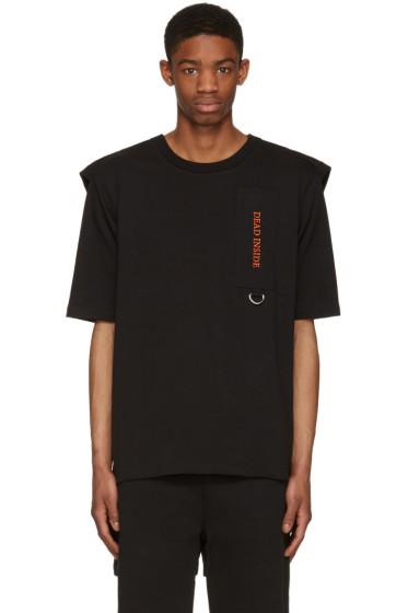 Hood by Air - Black 'Dead Inside' T-Shirt