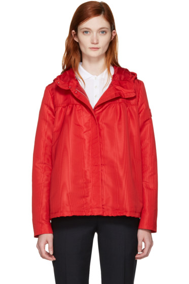 Moncler Gamme Rouge - Red Hooded Faille Jacket