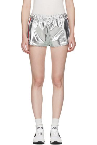 Moncler Gamme Rouge - Silver Karakoum Shorts