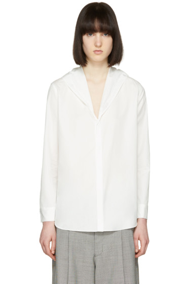 Yohji Yamamoto - Off-White Hooded Poplin Shirt