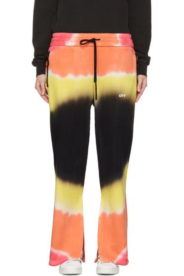 Off-White - Multicolor Tie-Dye Split Lounge Pants