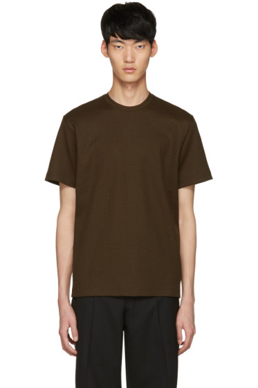 Johnlawrencesullivan - Khaki Waffle Knit T-Shirt