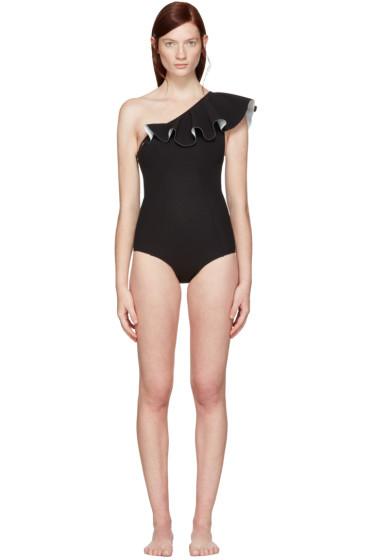 Lisa Marie Fernandez - Black Arden Flounce Swimsuit