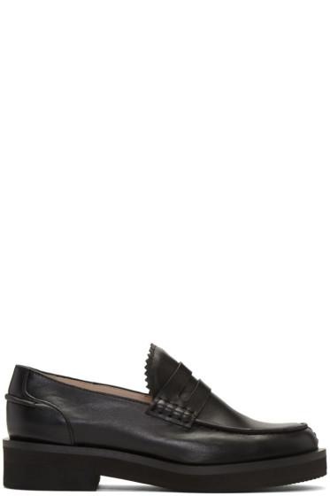 Jil Sander Navy - Black Leather Galaxy Loafers