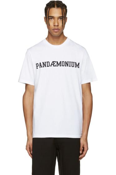 OAMC - White 'Pandemonium' T-Shirt
