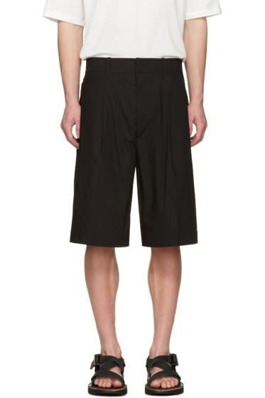 Lemaire - Black Poplin Shorts