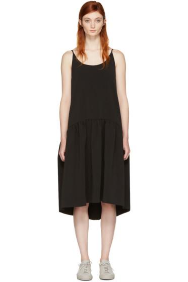 Edit - Black Curved Peplum Dress