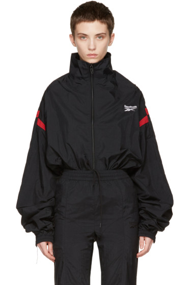 Vetements - Black Reebok Edition Reworked Track Jacket
