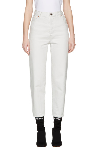 Vetements - White Levi's Edition Classic High Waist Jeans