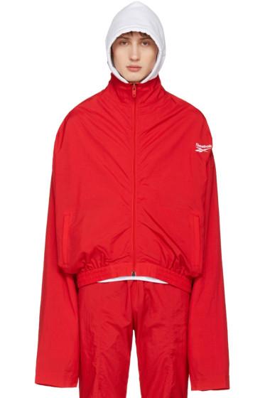 Vetements - Red Reebok Edition Chav Track Jacket