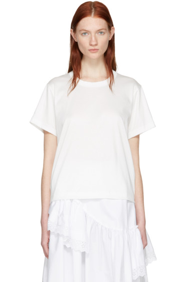 Noir Kei Ninomiya - White Grosgrain Tape T-Shirt
