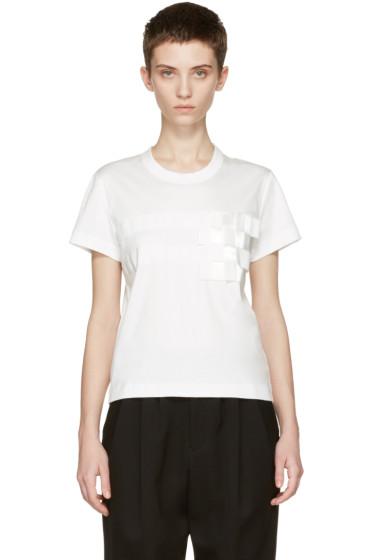 Noir Kei Ninomiya - White Tape T-Shirt