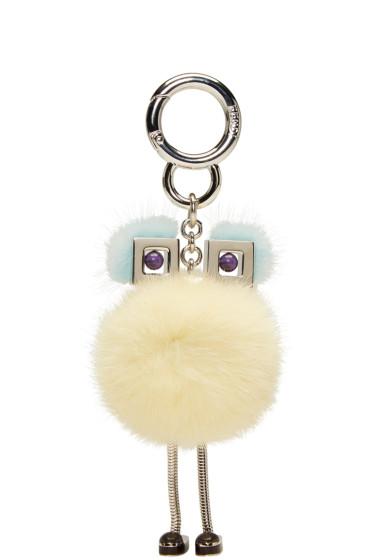 Fendi - Yellow Fur Chick Keychain