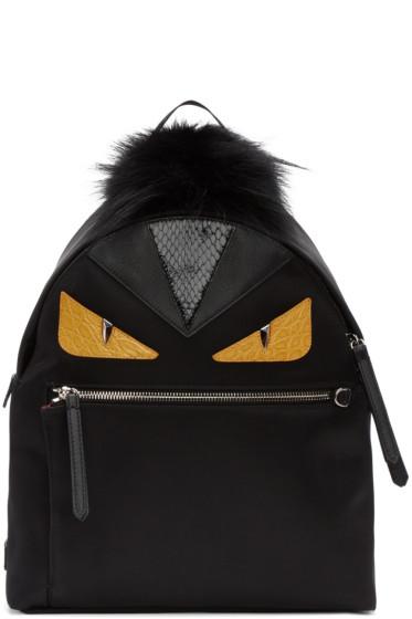Fendi - Black Medium 'Bag Bugs' Backpack