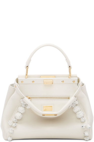 Fendi - Off-White Mini Peekaboo Bag