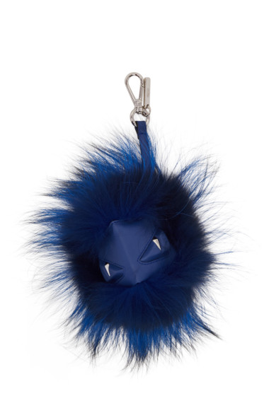 Fendi - Blue 'Bag Bug' Keychain