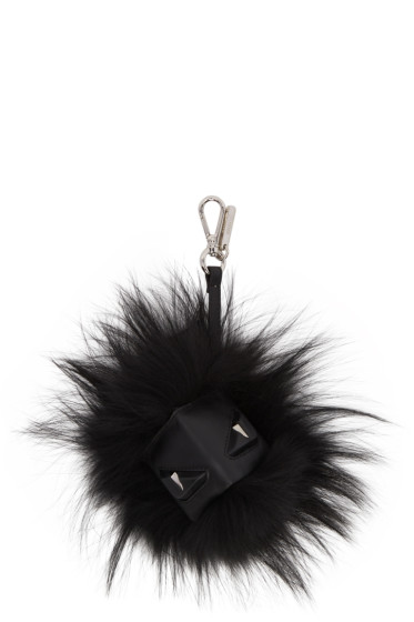 Fendi - Black 'Bag Bug' Keychain