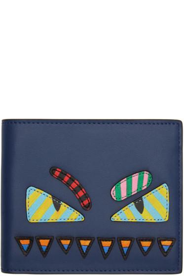Fendi - Blue & Multicolor 'Bag Bugs' Wallet