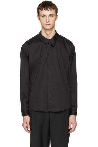 Wooyoungmi - ブラック フラップ カラー シャツ