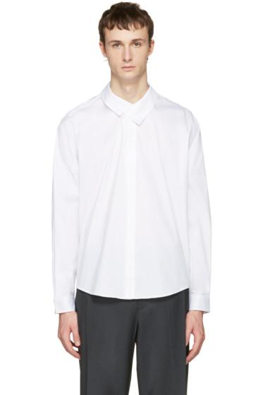 Wooyoungmi - ホワイト フラップ カラー シャツ