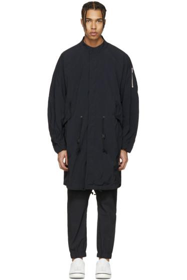 Attachment - Black Long Bomber Jacket