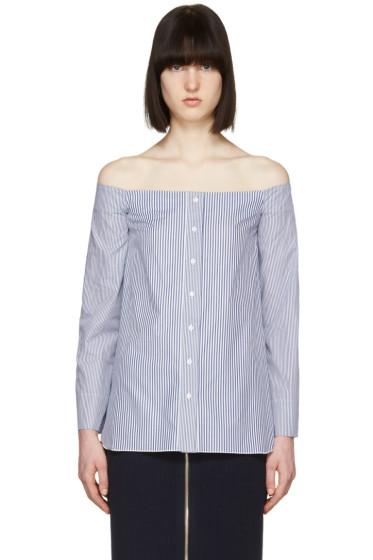 Atea Oceanie - Blue Scarlett Off-the-Shoulder Shirt