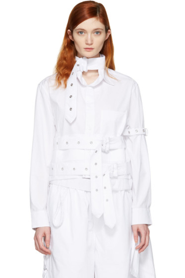 Craig Green - White Cotton Cropped Shirt