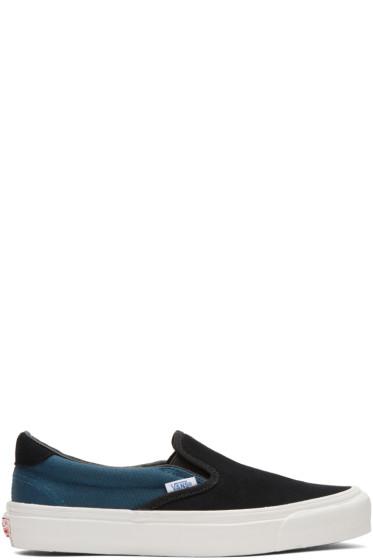 Vans - Black & Blue OG Classic LX 59 Slip-On Sneakers