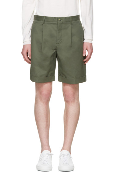 Éditions M.R  - Green Pleated Shorts