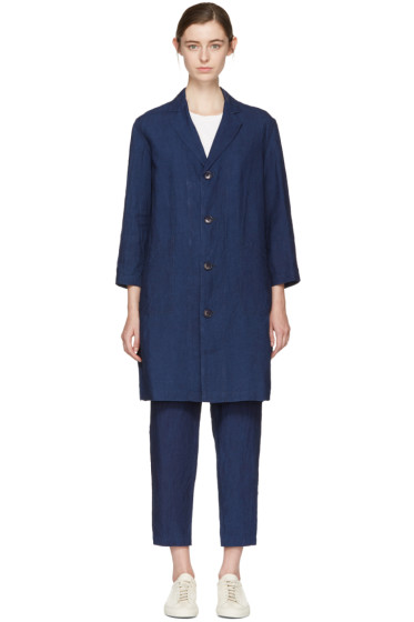 Blue Blue Japan - Indigo Linen Engineer Coat