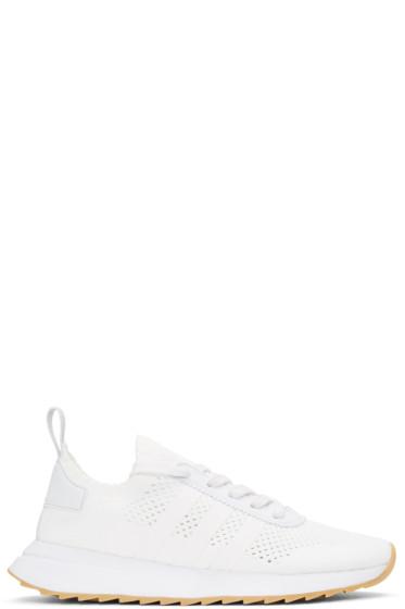 adidas Originals - ホワイト フラッシュバック スニーカー
