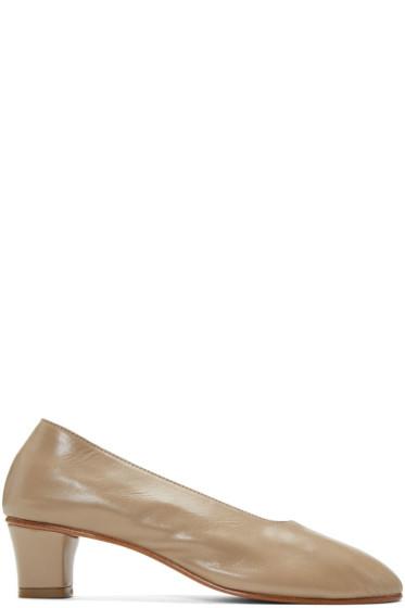 Martiniano - Taupe High Glove Heels