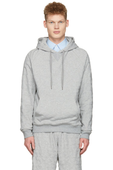 Ports 1961 - Grey Embroidered Stars Hoodie