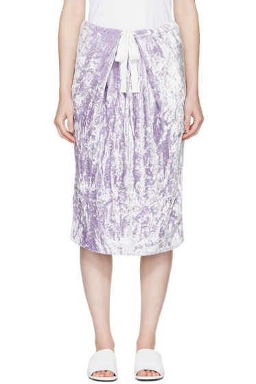 Victoria Beckham - Purple Velvet Skirt