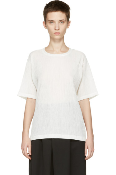 Issey Miyake - White Twisted Jersey T-Shirt