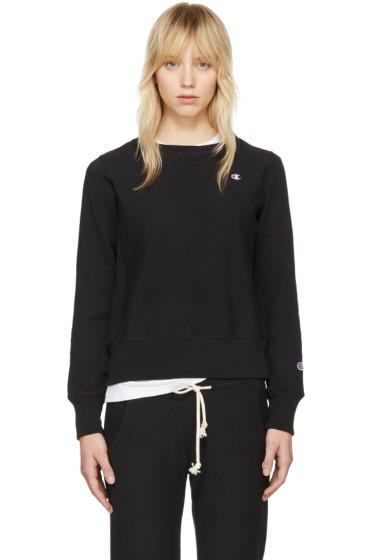 Champion Reverse Weave - Black Logo Patch Pullover
