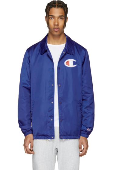 Champion Reverse Weave - Blue Coach Track Jacket