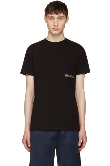 Han Kjobenhavn - Black Casual Small Logo T-Shirt